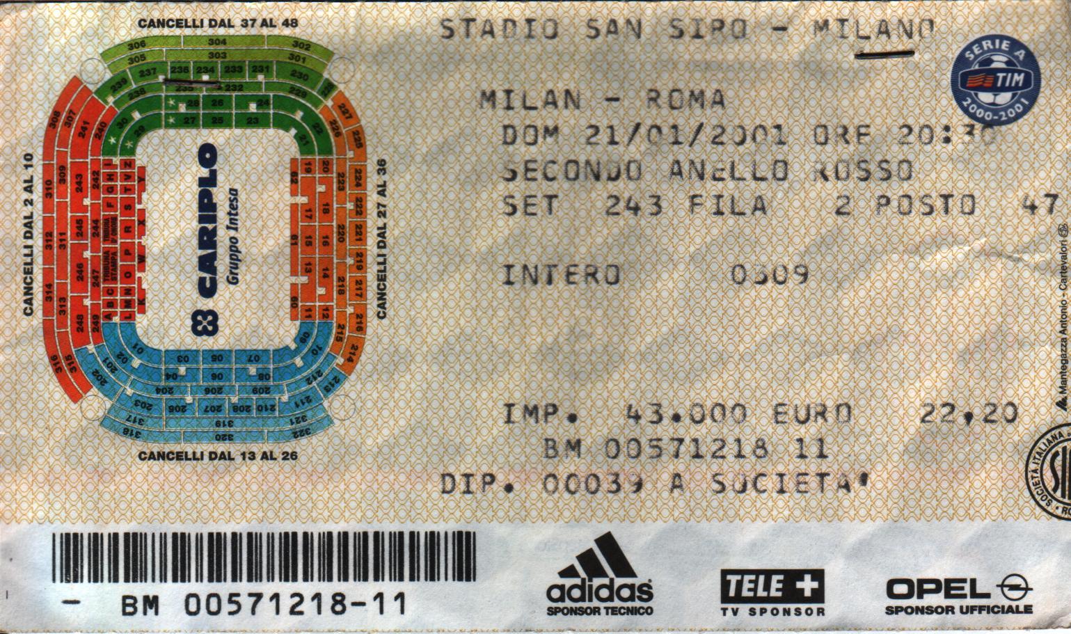 biglietti milan udinese 30 novembre 1989 - photo#8